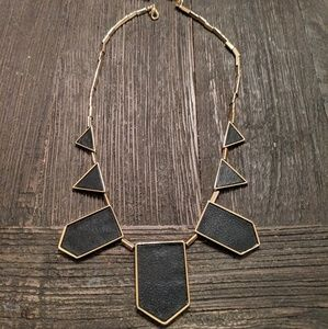 House of Harlow black station necklace
